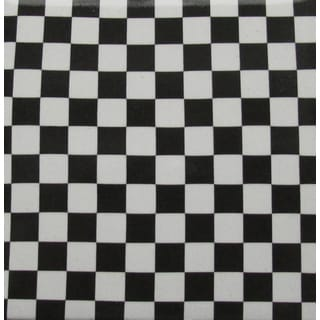 Black/ White Checkered Ceramic Wall Tile (Pack of 20)