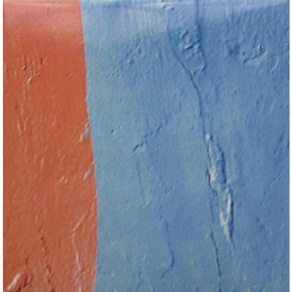 Blue/ Orange Texture Modern Ceramic Wall Tile (Pack of 20)