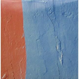 Blue/ Orange Texture Modern Ceramic Wall Tile (Pack of 20)