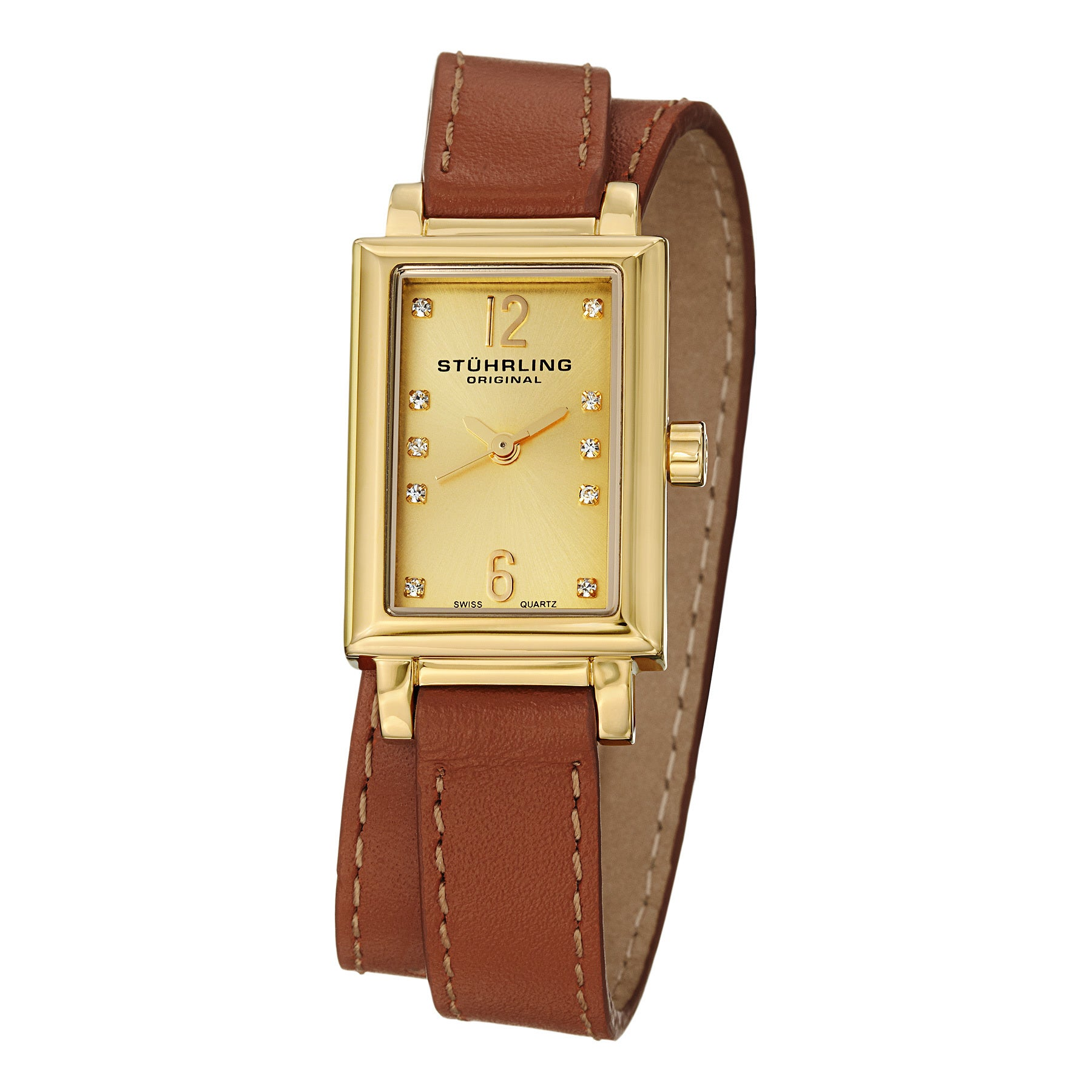 American Swiss Watches Women Leather Band