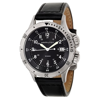 Hamilton Men's 'Khaki Field' Stainless Steel Military Time Watch
