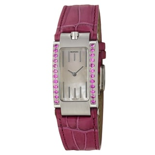 Movado Women's 'Elliptica' Stainless Steel Fuchsia Swiss Quartz Watch