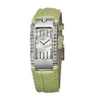Movado Women's 'Elliptica' Stainless Steel Green Swiss Quartz Watch