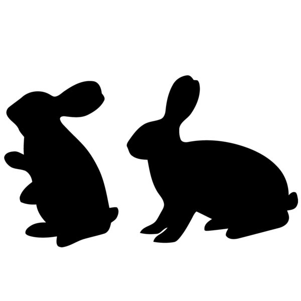 Hares Vinyl Wall Decal Art