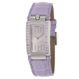 Movado Women's 'Elliptica' Stainless Steel Lavender Strap Swiss Quartz Watch