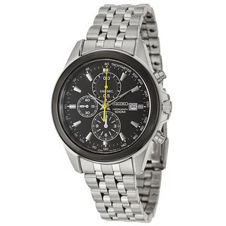 Seiko Men's 'Chronograph' Stainless Steel Tachymeter Watch
