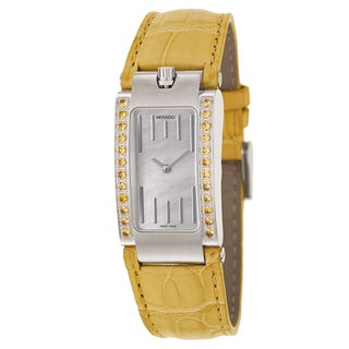 Movado Women's 'Elliptica' Stainless Steel Yellow Strap Swiss Quartz Watch