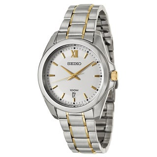 Seiko Men's 'Bracelet' Stainless Steel Yellow Goldplated Japanese Quartz Watch