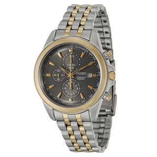 Seiko Men's 'Chronograph' Stainless Steel and Yellow Goldplated Chronograph Tachymeter Watch
