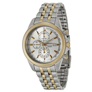 Seiko Men's 'Chronograph' Stainless Steel and Yellow Goldplated Tachymeter Watch
