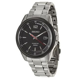Seiko Men's 'Kinetic' Stainless Steel Kinetic Automatic Watch