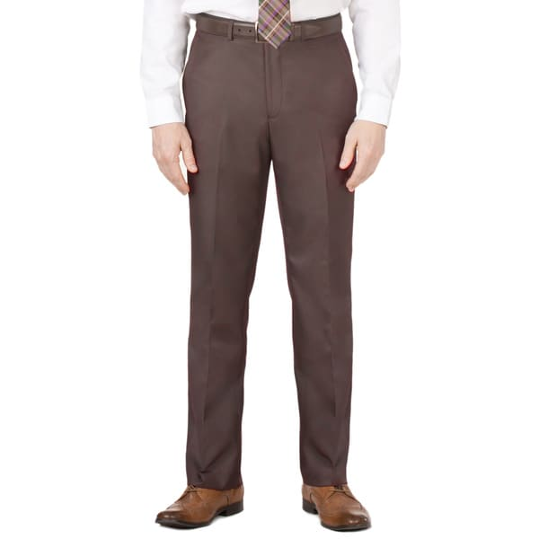 Dockers Men's Brown Flat-front Suit Separate Pants