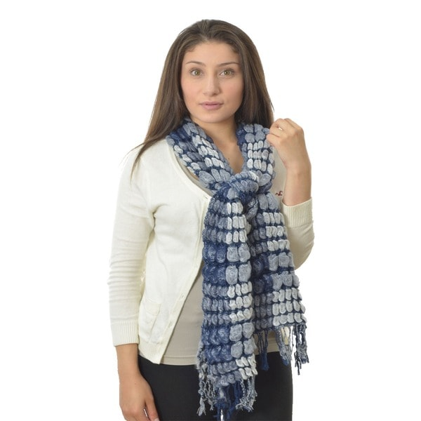 LA77 Two-tone Bubble Knit Scarf