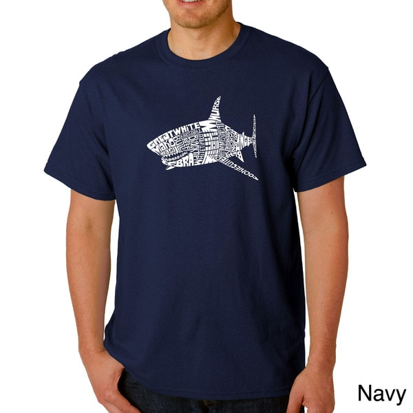 Los Angeles Pop Art Men's 'Shark Names' T-shirt