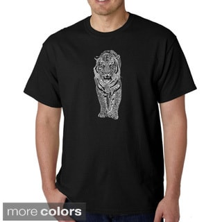Los Angeles Pop Art Men's 'Endangered Species Tiger' T-shirt