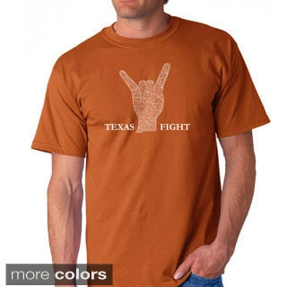 Los Angeles Pop Art Men's 'Texas Fight' T-shirt