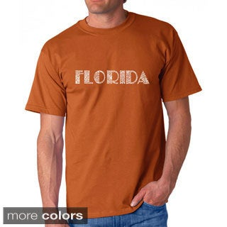Los Angeles Pop Art Men's 'Florida Cities' T-shirt
