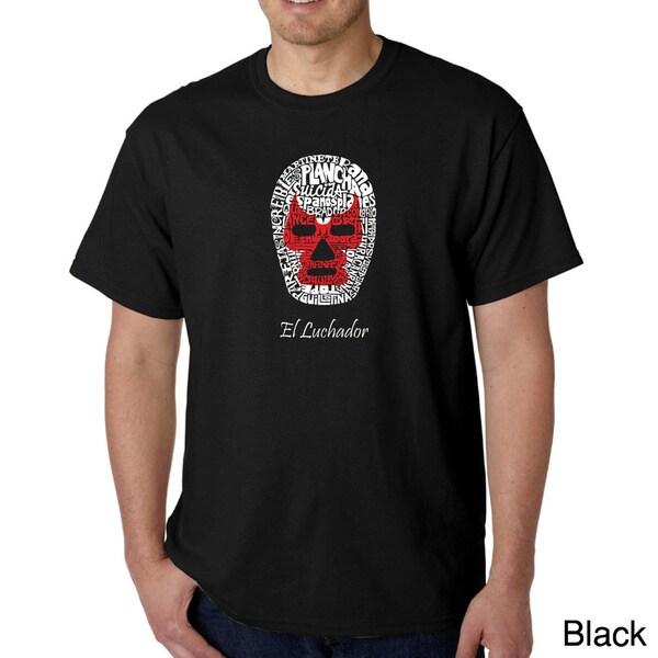 Los Angeles Pop Art Men's 'Luchador Wrestling Mask' T-shirt
