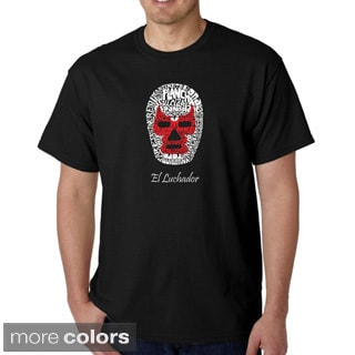 Los Angeles Pop Art Men's 'Luchador Wrestling Mask' T-shirt
