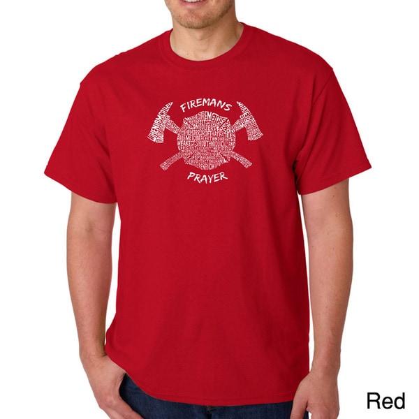 Los Angeles Pop Art Men's 'Fireman's Prayer' T-shirt