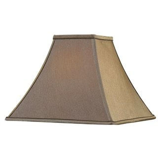 Design Match 14-inch Flared Square Cinnamon Lamp Shade