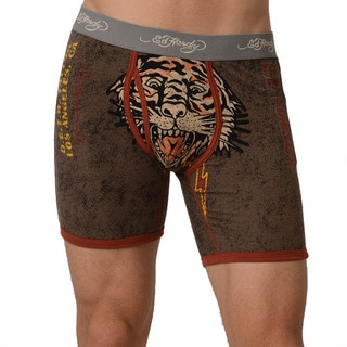 Ed Hardy Men's Charcoal Tigered For Life Premium Boxer Brief
