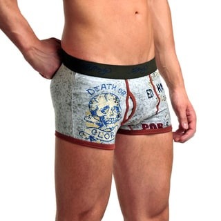 Ed Hardy Men's Heather Grey Glory Por Vida Premium Trunks