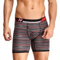 New Balance Men's Black Thin Stripe Photoprint Boxer Briefs