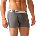 New Balance Men's 'Performance' Grey/ White Sport Trunks (3-inch inseam)