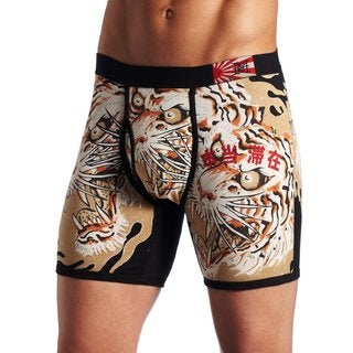Ed Hardy Men's 'Japan Tiger' Print Black Premium Boxer Briefs
