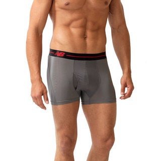 New Balance Men's 'Performance' Grey/ Black Sport Trunks (3-inch inseam)