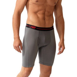New Balance Men's 'Performance' Grey and Black Sport Briefs (9-inch inseam)