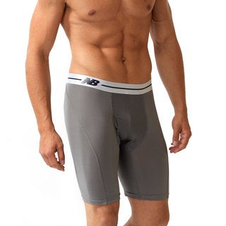 New Balance Performance Grey/White 9-inch Inseam Sport Briefs