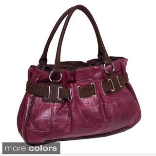 Bueno 'Caiman' Medium Belted Satchel