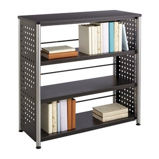 Scoot Black 3-shelf Bookcase