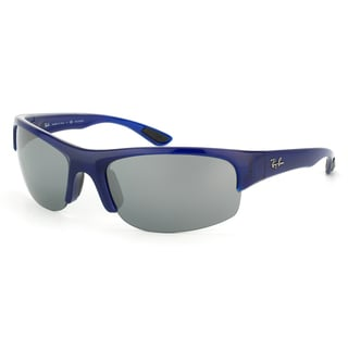 Ray-Ban Unisex 'RB4173 Sport' Opal Blue Polarized Interchangable Sunglasses