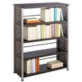 Scoot Black 4-shelf Bookcase
