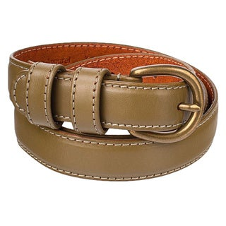 American Apparel Skinny Feathered Edge Leather Belt