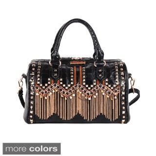 Nicole Lee 'Tatiana' Chain-fringe Boston Bag