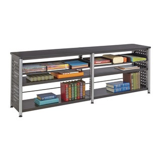Safco Scoot Black 2-shelf Credenza