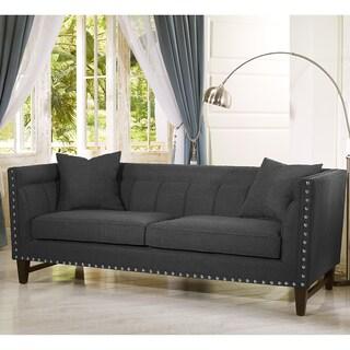 Stapleton Gray Linen Modern Sofa