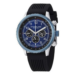 Stuhrling Original Men's Concorso Silhouette Sport Swiss Quartz Strap Watch