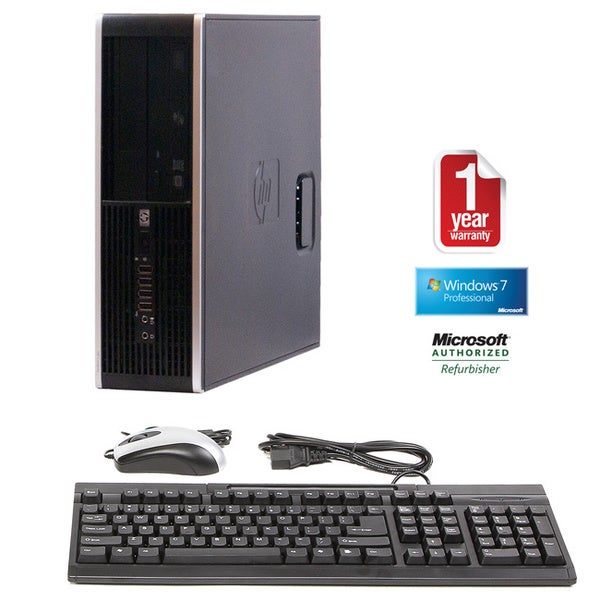 HP 6005 Pro Athlon IIX2 3.0GHz 4GB 1TB Windows 7 Pro 64-bit SFF Computer (Refurbished)