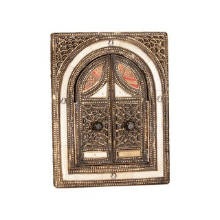 Hand-embossed Double-door Wall Mirror (Morocco)