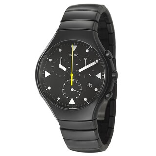 Rado Men's 'Rado True' Black Ceramic Chronograph Watch