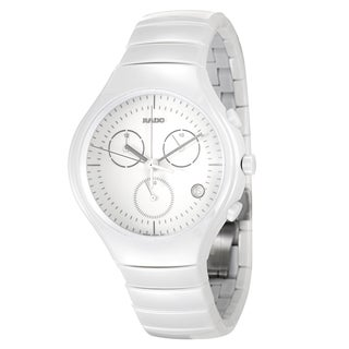 Rado Men's 'Rado True' White Ceramic Chronograph Watch
