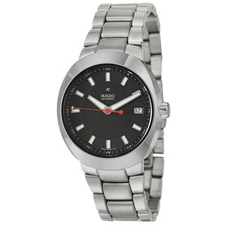 Rado Men's 'D Star' Ceramos Swiss Stainless Steel Mechanical Automatic Black Watch