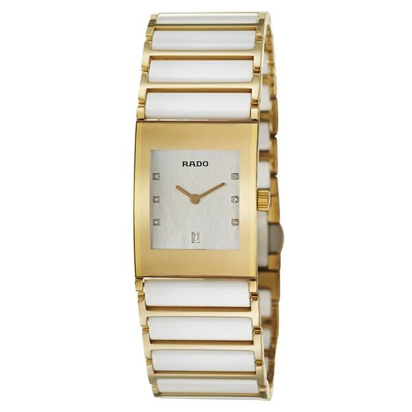 Rado Women's 'Integral Jubile' Yellow Gold PVD-coated Stainless Steel Swiss Quartz Watch 12443951