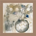 Carrie Narducci 'Blue Flower II' Framed Wall Art