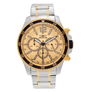 Invicta Men's 13976 18k Yellow Goldplated Accent Stainless Steel Watch